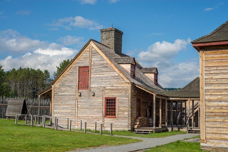 De keukenbouw, het nationale monument van Grand Portage stock foto's