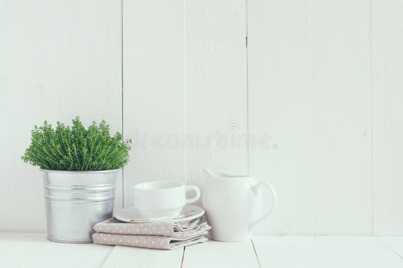 De keukendecoratie van het land stock foto