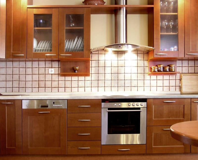 De keukenontwerp van de kers royalty-vrije stock foto