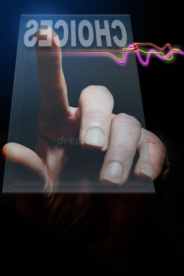 De Keus van de vinger stock foto's