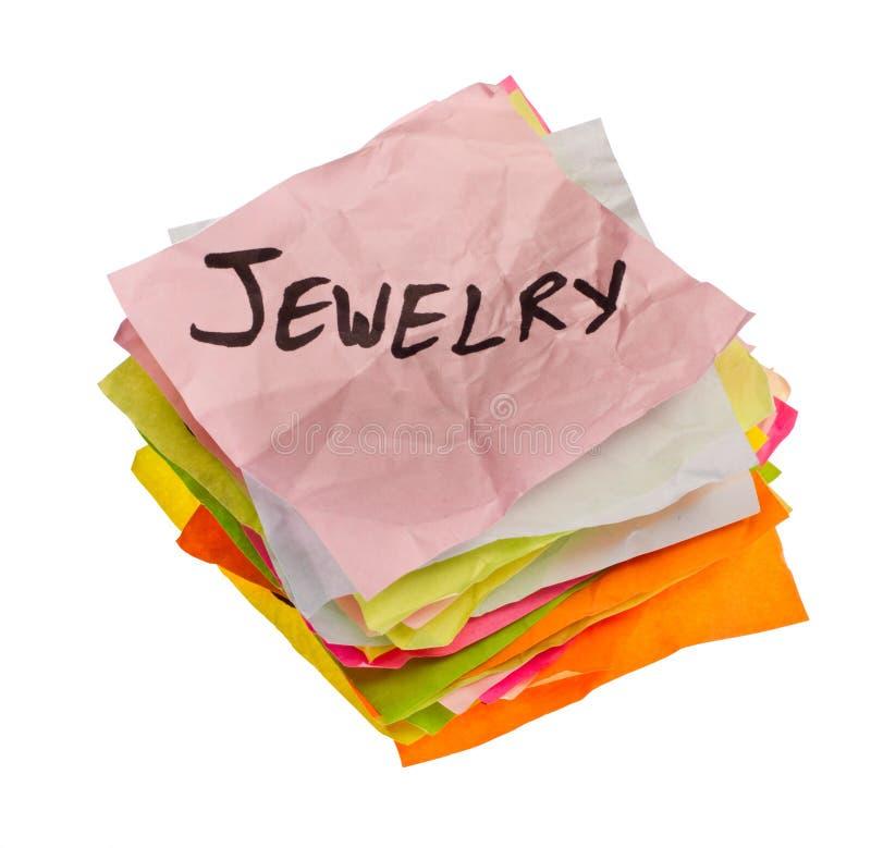 De keuzen die van het leven - het besteden besluiten nemen - Juwelen royalty-vrije stock afbeelding
