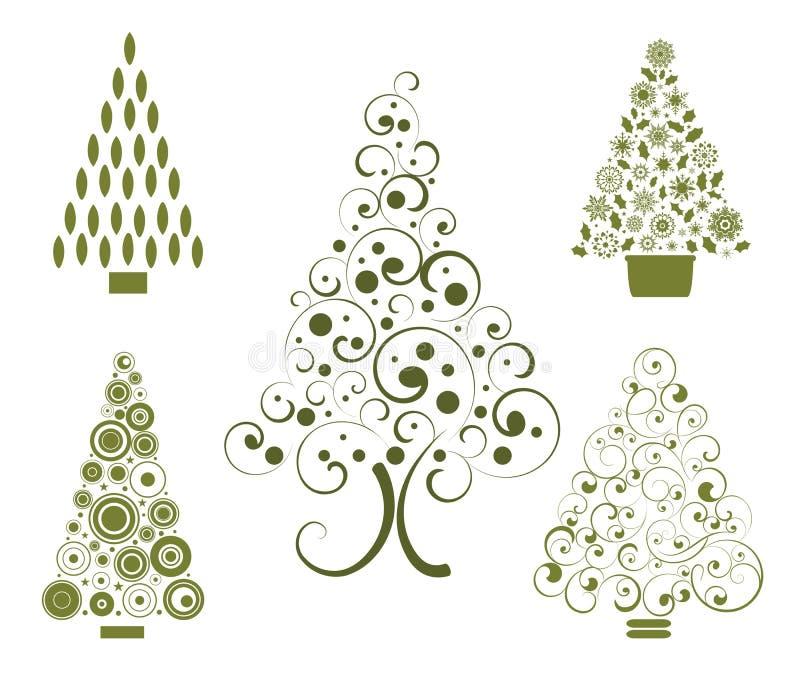 De keuzen van de kerstboom royalty-vrije illustratie