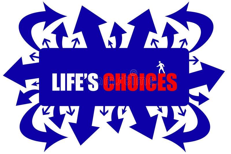 De keuzen van het leven stock illustratie