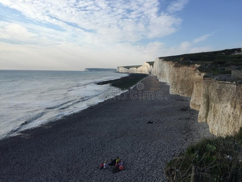 De kiezelachtige hoofdmening Oost- van Sussex van hierboven stock fotografie