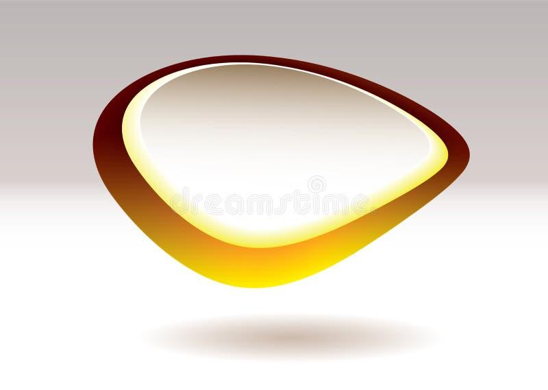 De kiezelsteen gouden fruit van de vlek stock illustratie