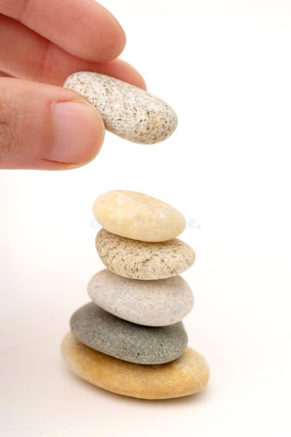 De kiezelsteenstapel van Zen stock fotografie