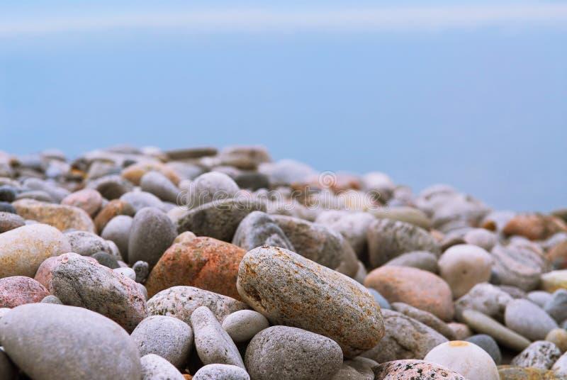 De kiezelstenen van het strand stock fotografie