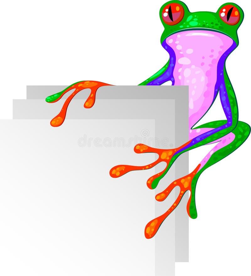 De Kikker van de boom voor de hoek vector illustratie