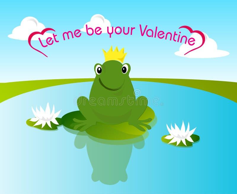 De kikker van de valentijnskaart vector illustratie