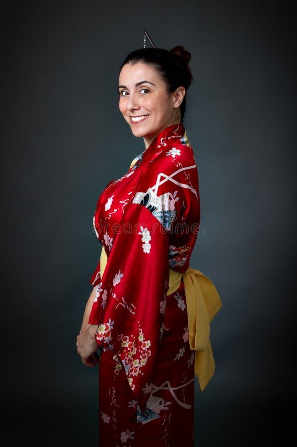 De kimono van Japan van de vrouw stock foto