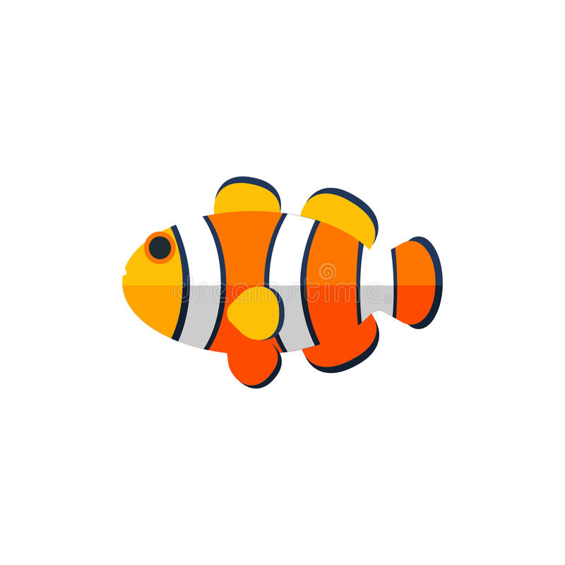 De Kinderachtige Sticker van clownfish primitive style vector illustratie