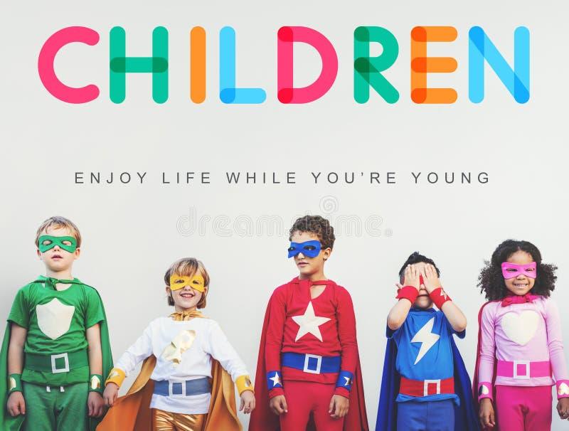 De kinderen genieten Concept van de het Levens van het Jonge Leeftijd royalty-vrije stock foto's