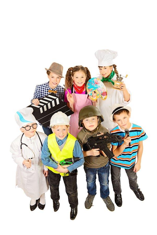 De kinderen groeperen zich royalty-vrije stock fotografie