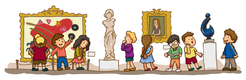 De kinderen hebben een onderwijsstudie bij AR stock illustratie