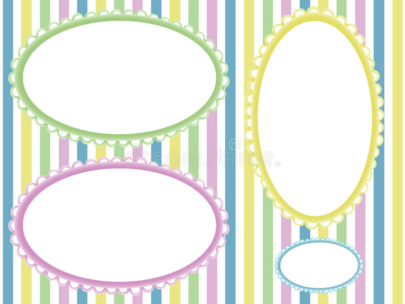 De kinderen kleuren fotoframes stock illustratie