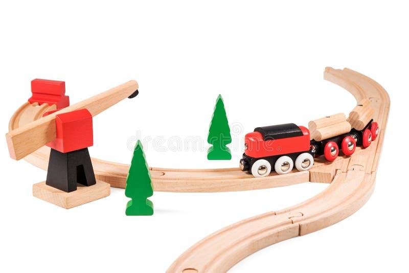 De kinderen leiden op de spoorweg op royalty-vrije stock foto