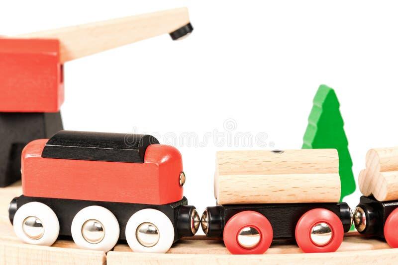 De kinderen leiden op de spoorwegclose-up op royalty-vrije stock foto's