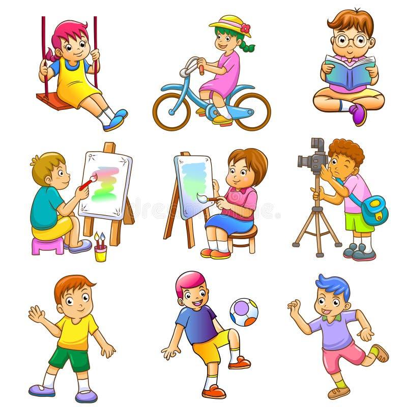 De kinderen spelen stock illustratie