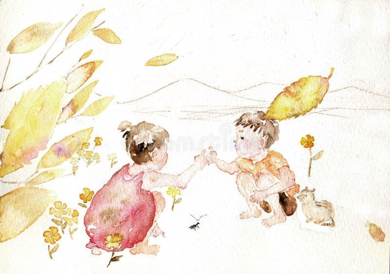 De kinderen spelen spel vector illustratie