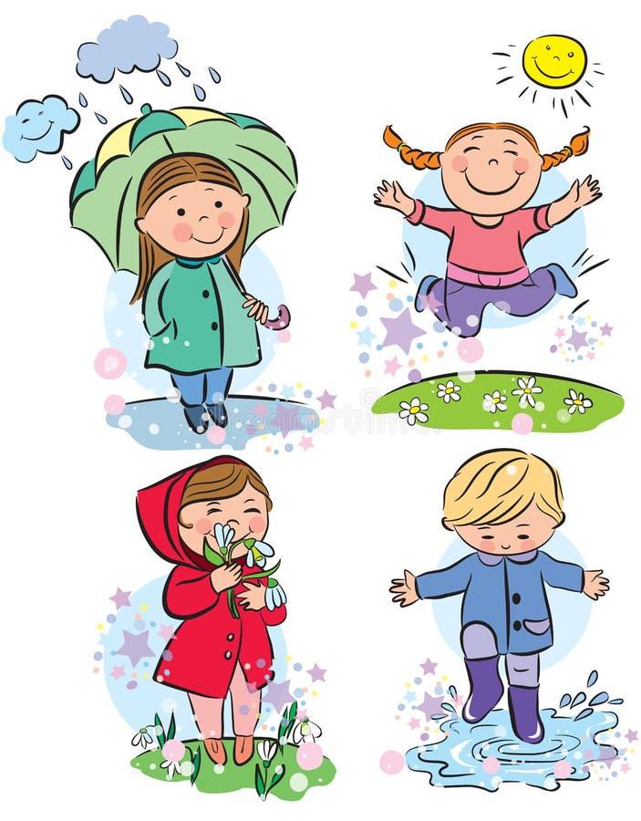 De kinderen van de lente vector illustratie