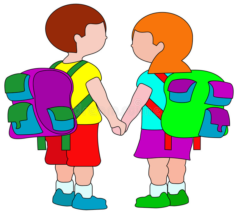 De kinderen van de school