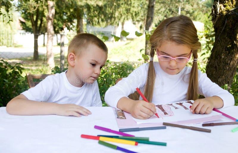 De kinderen van de school royalty-vrije stock fotografie