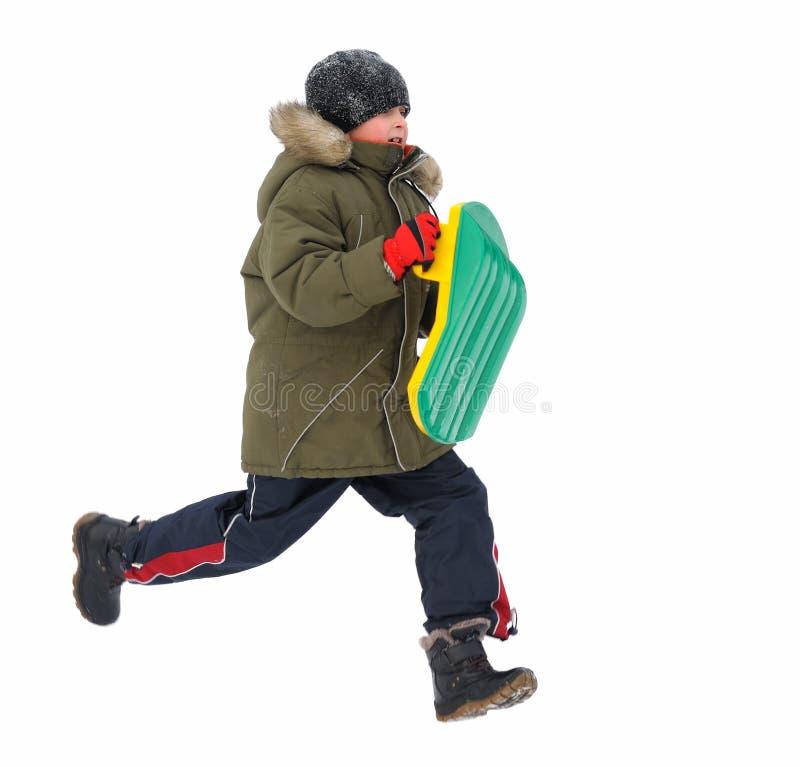 De Kinderen van de Spelen van de winter stock foto
