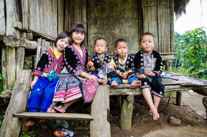 De kinderen van DOI PUI Karen. royalty-vrije stock fotografie