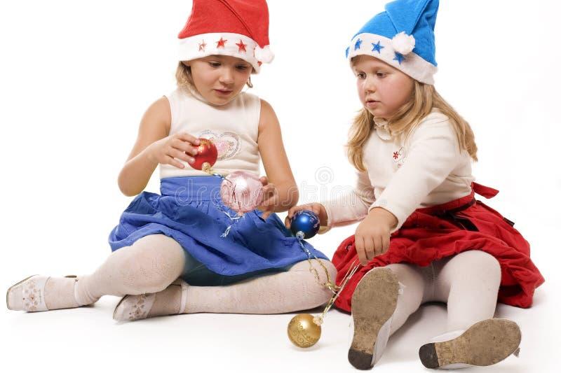 De kinderen van Kerstmis stock foto's