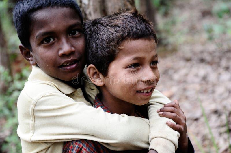 De Kinderen van Nepali royalty-vrije stock foto