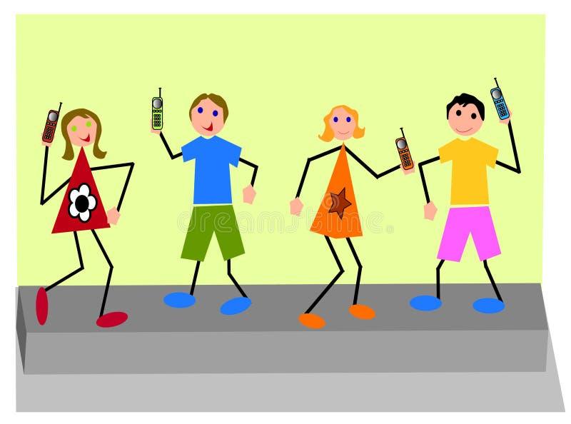 De kinderen van Techno stock illustratie