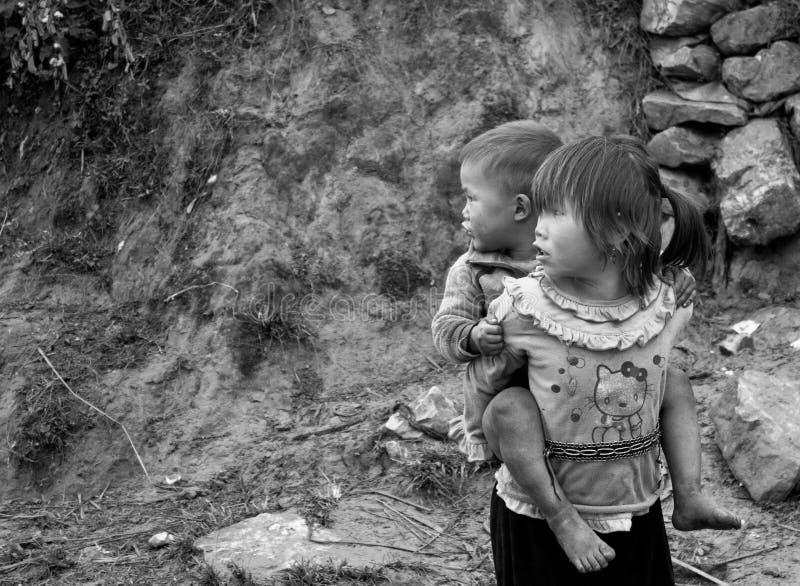 De Kinderen van Zao van Sapa, Vietnam royalty-vrije stock fotografie