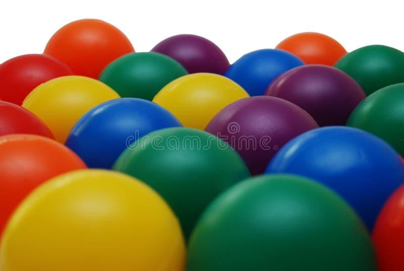 De kinderenballen van Colorfull stock afbeeldingen