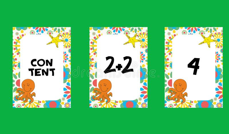 De kinderenkaarten stock illustratie