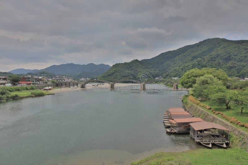 de Kintai-Brug van Iwakuni, Japan stock afbeelding