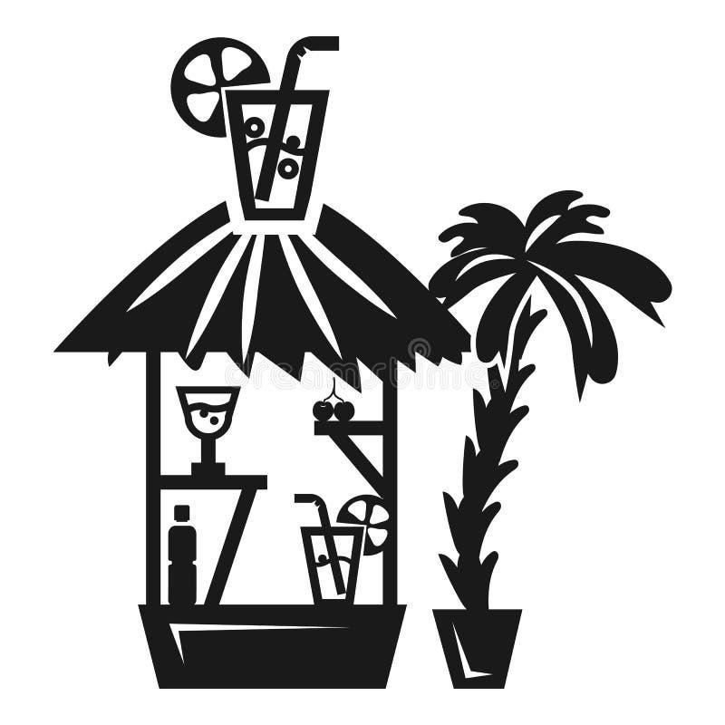 De kioskpictogram van de strandcocktail, eenvoudige stijl royalty-vrije illustratie