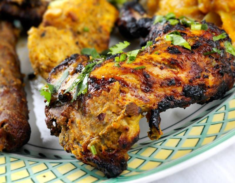 De Kip en het vlees van Tandoori stock afbeeldingen