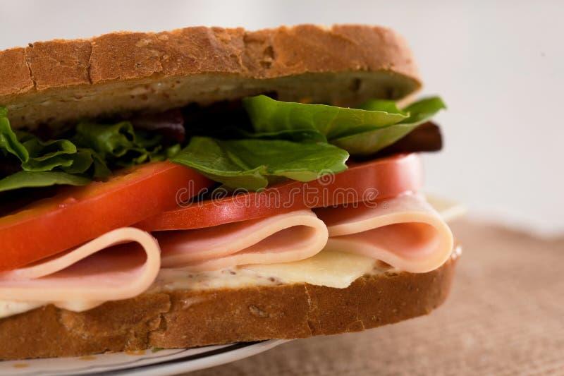 De kippenham van de sandwich stock foto's