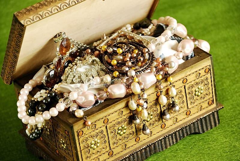 De kist van juwelen royalty-vrije stock foto's