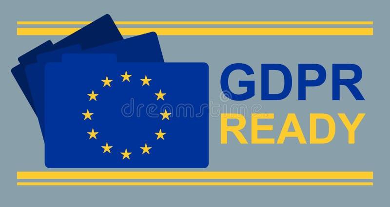 De Klaar Banner van GDPR royalty-vrije illustratie