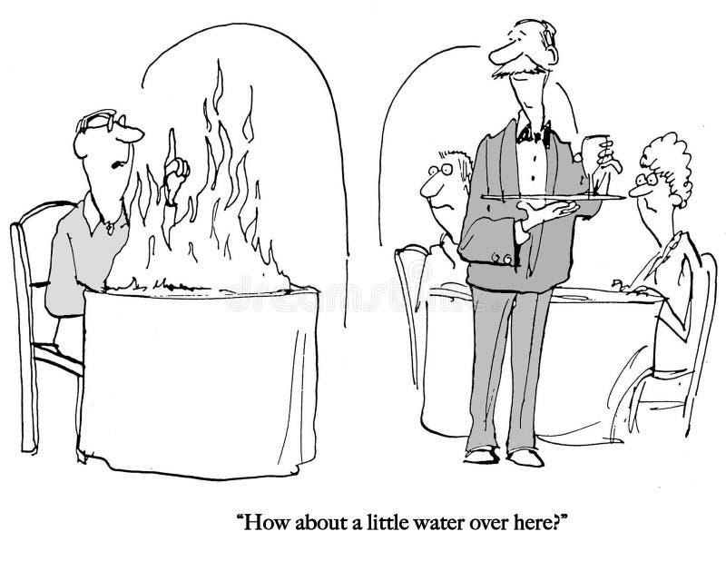 De klant heeft water voor brand nodig stock illustratie