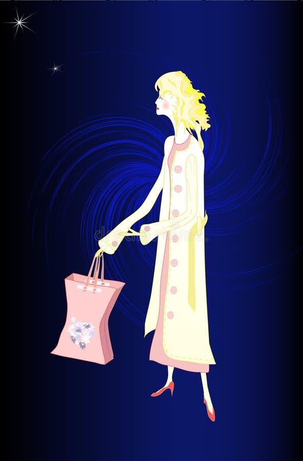 De Klant van de middernacht in Roze vector illustratie