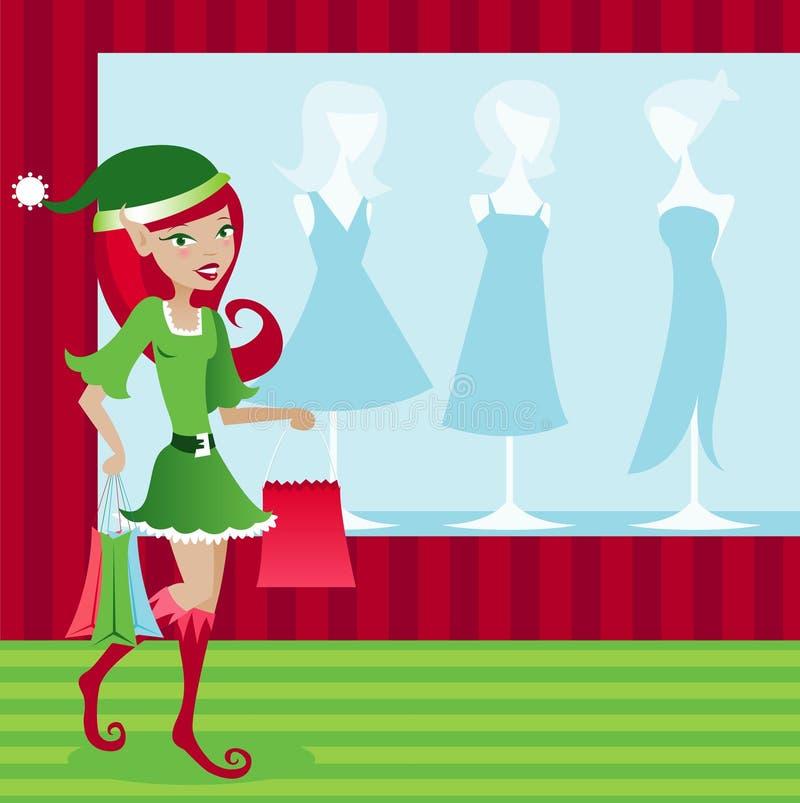 De Klant van het Elf van de vakantie stock illustratie