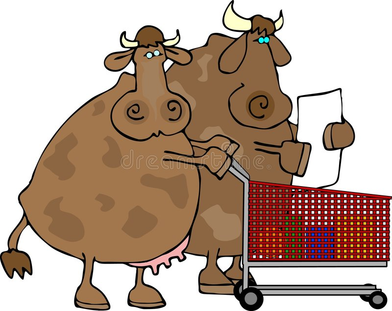 De Klanten van de koe stock illustratie