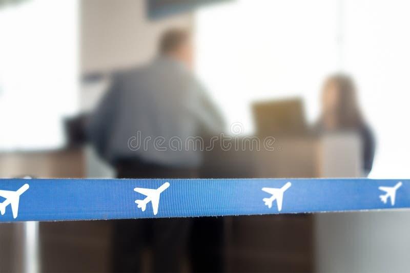 De klantendienst en helpdesk in terminal en poort royalty-vrije stock foto's
