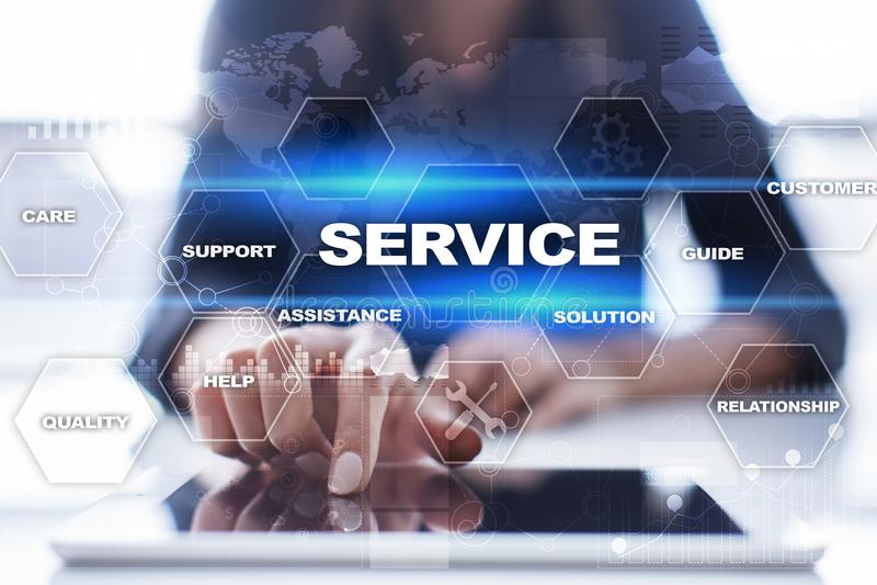 De klantendienst en verhoudingsconcept Bedrijfs concept royalty-vrije stock foto's