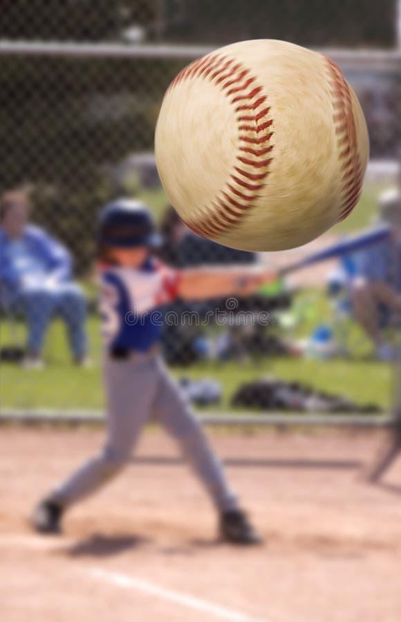 De klap van het honkbal stock afbeelding