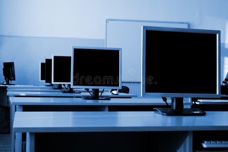 De klasse van de computer royalty-vrije stock afbeeldingen