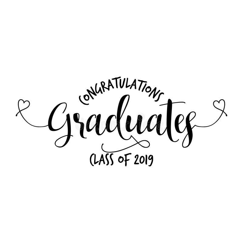 De Klasse van gelukwensengediplomeerden van 2019 royalty-vrije illustratie