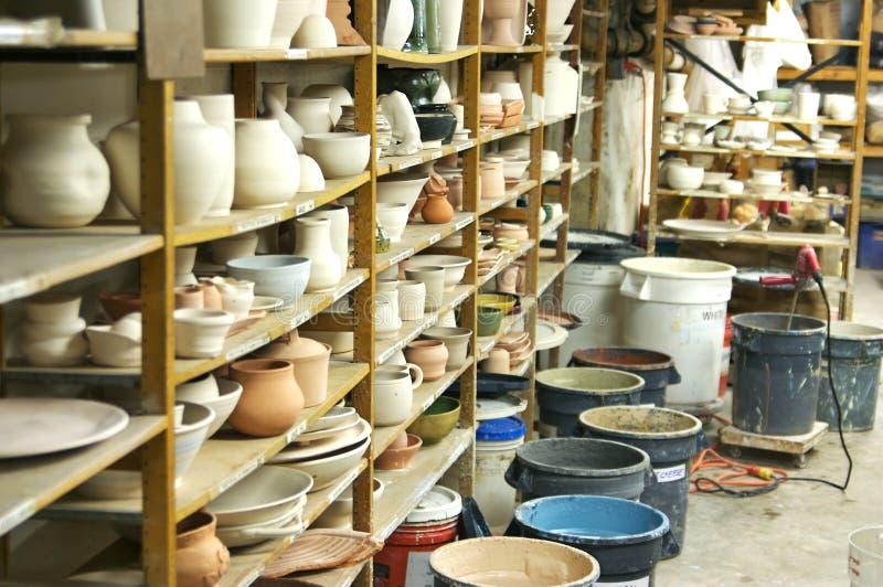 De Klasse van het aardewerk stock afbeelding